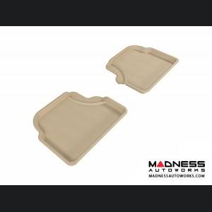 BMW 5 Series (E60) Floor Mats (Set of 2) - Rear - Tan by 3D MAXpider