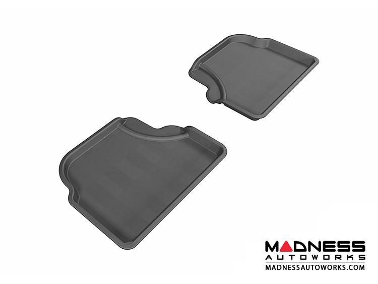 BMW 5 Series (E60) Floor Mats (Set of 2) - Rear - Black by 3D MAXpider