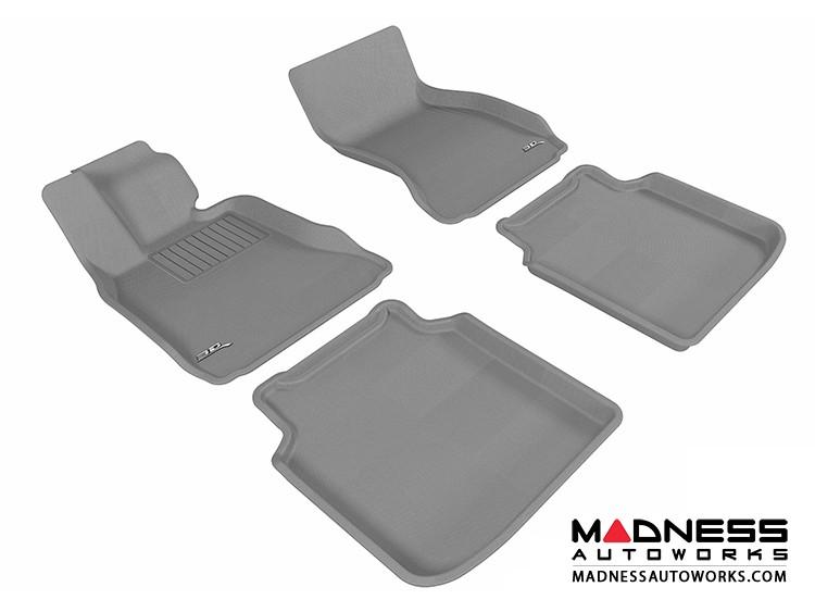 BMW 7 Series LI (F02) (F04) Floor Mats (Set of 4) - Gray by 3D MAXpider