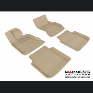 BMW 7 Series LI (F02) (F04) Floor Mats (Set of 4) - Tan by 3D MAXpider