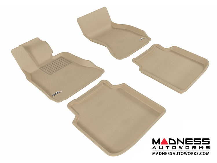 BMW 7 Series LI (F02) (F04) Floor Mats (Set of 4) - Tan by 3D MAXpider