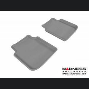 BMW 7 Series LI (F02) (F04) Floor Mats (Set of 2) - Rear - Gray by 3D MAXpider