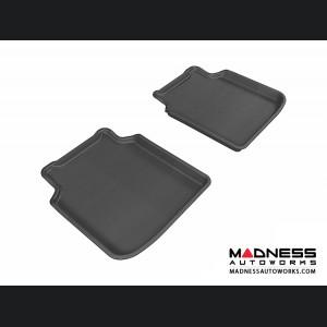 BMW 7 Series LI (F02) (F04) Floor Mats (Set of 2) - Rear - Black by 3D MAXpider