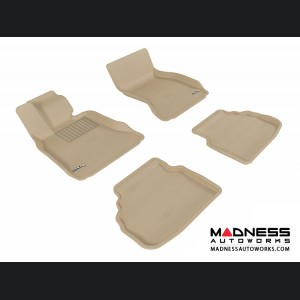 BMW 7 Series (F01) Floor Mats (Set of 4) - Tan by 3D MAXpider