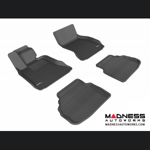 BMW 7 Series (F01) Floor Mats (Set of 4) - Black by 3D MAXpider