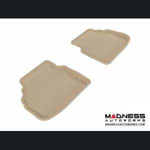 BMW 7 Series (F01) Floor Mats (Set of 2) - Rear - Tan by 3D MAXpider