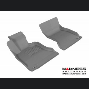 BMW 5 Series (F10) Floor Mats (Set of 2) - Front - Gray by 3D MAXpider