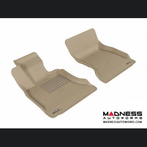 BMW 5 Series (F10) Floor Mats (Set of 2) - Front - Tan by 3D MAXpider