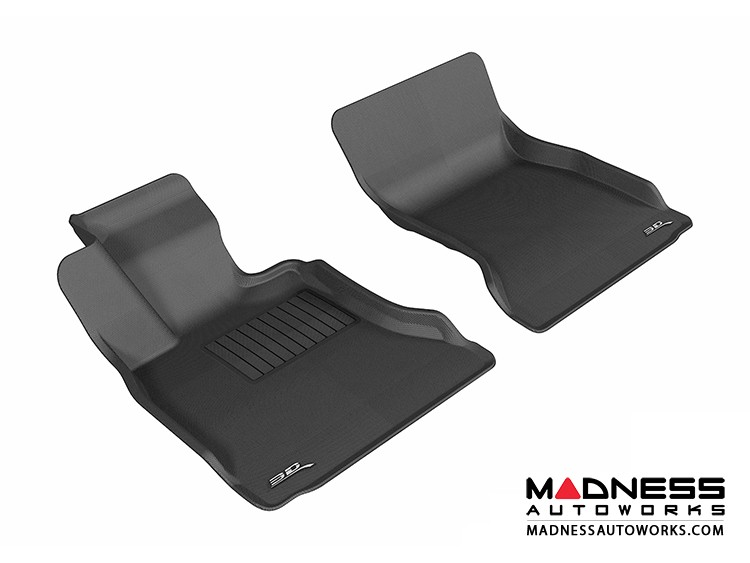 BMW 5 Series (F10) Floor Mats (Set of 2) - Front - Black by 3D MAXpider