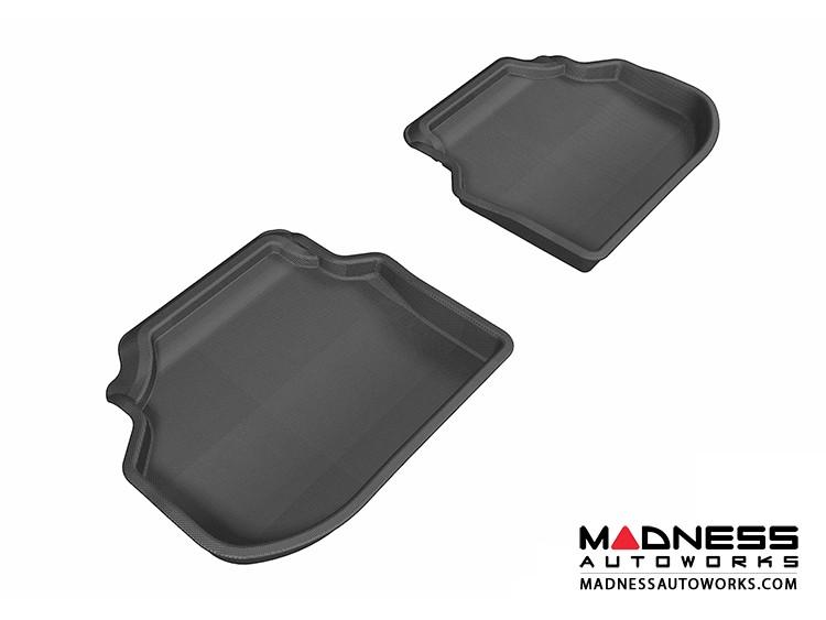 BMW 5 Series (F10) Floor Mats (Set of 2) - Rear - Black by 3D MAXpider