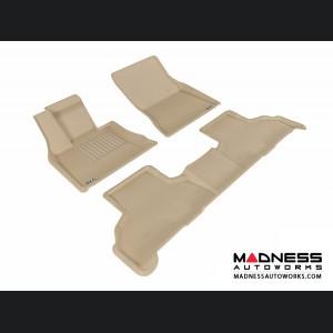 BMW X5 (F15) Floor Mats (Set of 3) - Tan by 3D MAXpider