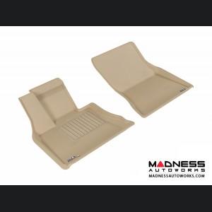 BMW X5 (F15) Floor Mats (Set of 2) - Front - Tan by 3D MAXpider
