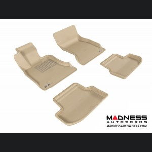 BMW 5 Series (F10) Floor Mats (Set of 4) - Tan by 3D MAXpider