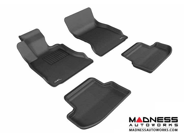 BMW 5 Series (F10) Floor Mats (Set of 4) - Black by 3D MAXpider