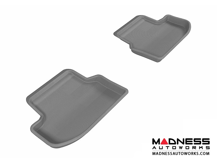 BMW 5 Series (F10) Floor Mats (Set of 2) - Rear - Gray by 3D MAXpider