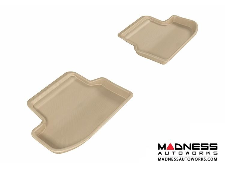 BMW 5 Series (F10) Floor Mats (Set of 2) - Rear - Tan by 3D MAXpider