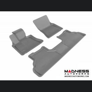 BMW X6 (E71) Floor Mats (Set of 3) - Gray by 3D MAXpider