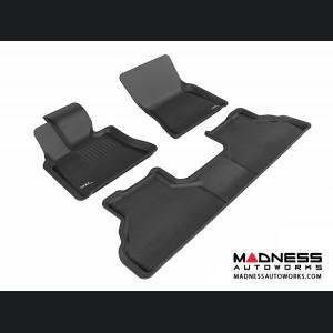 BMW X6 (E71) Floor Mats (Set of 3) - Black by 3D MAXpider