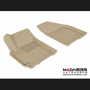 Chevrolet Aveo Floor Mats (Set of 2) - Front - Tan by 3D MAXpider (2007-2011)