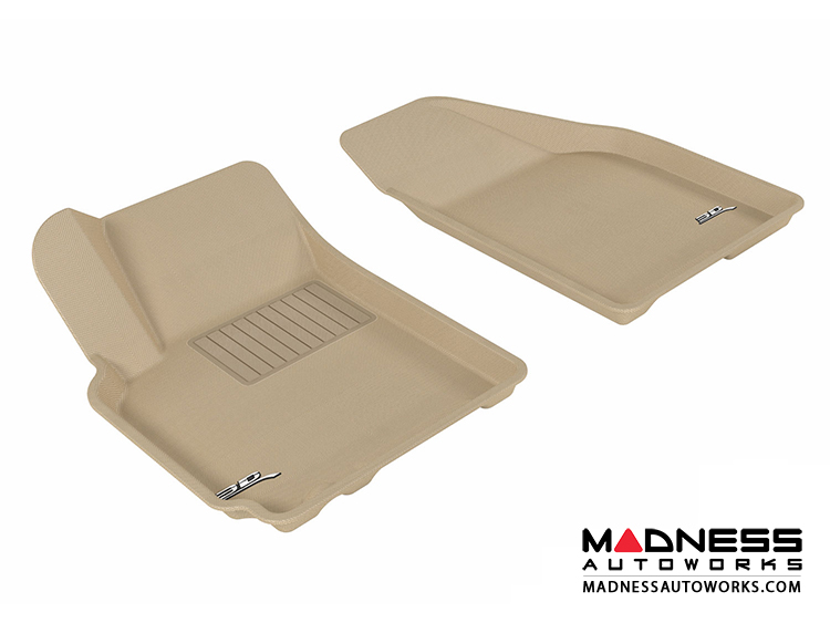 Chevrolet Aveo Floor Mats (Set of 2) - Front - Tan by 3D MAXpider (2007-2011)