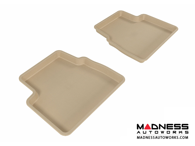 Chevrolet Aveo Floor Mats (Set of 2) - Rear - Tan by 3D MAXpider (2007-2011)