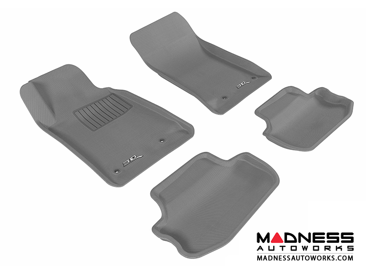 Chevrolet Camaro Floor Mats (Set of 4) - Gray by 3D MAXpider (2010-2015)