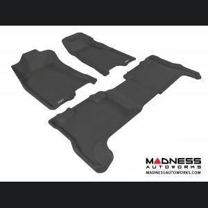 Chevrolet Colorado Crew Cab Floor Mats (Set of 3) - Black by 3D MAXpider (2004-2012)