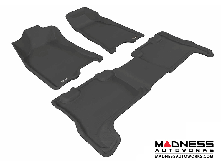 Chevrolet Colorado Crew Cab Floor Mats (Set of 3) - Black by 3D MAXpider (2004-2012)