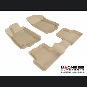 Chevrolet Sonic Sedan/ Hatchback Floor Mats (Set of 3) - Tan by 3D MAXpider (2012-2015)
