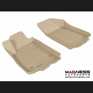 Chevrolet Sonic Sedan/ Hatchback Floor Mats (Set of 2) - Front - Tan by 3D MAXpider (2012-2015)