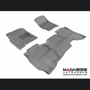 Chevrolet Silverado Double Cab Floor Mats (Set of 3) - Gray by 3D MAXpider (2014-)