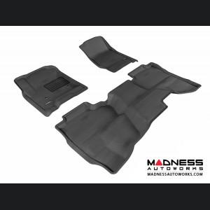 Chevrolet Silverado Double Cab Floor Mats (Set of 3) - Black by 3D MAXpider (2014-)