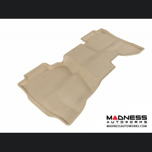 Chevrolet/ GMC Silverado/ Sierra Double Cab Floor Mat - Rear - Tan by 3D MAXpider (2014-)