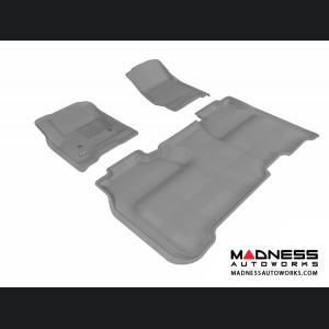 Chevrolet Silverado Crew Cab Floor Mats (Set of 3) - Gray by 3D MAXpider (2014-)