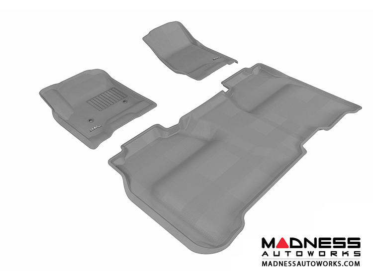 Chevrolet Silverado Crew Cab Floor Mats (Set of 3) - Gray by 3D MAXpider (2014-)