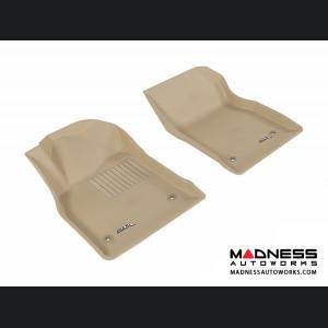 Chevrolet Cruze Floor Mats (Set of 2) - Front - Tan by 3D MAXpider (2011-2015)