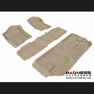 Chevrolet Suburban Floor Mats (Set of 4) - Tan by 3D MAXpider (2007-2014)