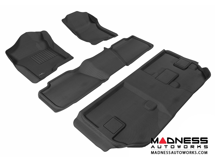 Chevrolet Suburban Floor Mats (Set of 4) - Black by 3D MAXpider (2007-2014)
