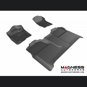 Chevrolet Silverado Crew Cab Floor Mats (Set of 3) - Black by 3D MAXpider (2007-2013)