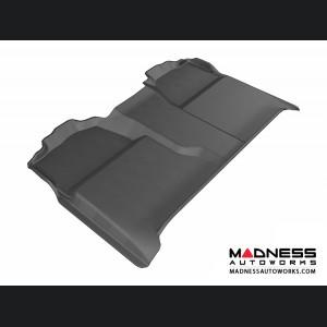 Chevrolet/ GMC Silverado/ Sierra Crew Cab Floor Mat - Rear - Black by 3D MAXpider (2007-2013)