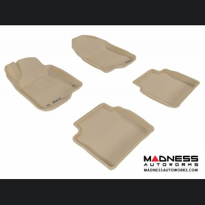 Chevrolet Malibu Floor Mats (Set of 4) - Tan by 3D MAXpider (2008-2012)