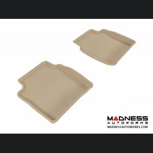 Chevrolet Malibu Floor Mats (Set of 2) - Rear - Tan by 3D MAXpider (2008-2012)