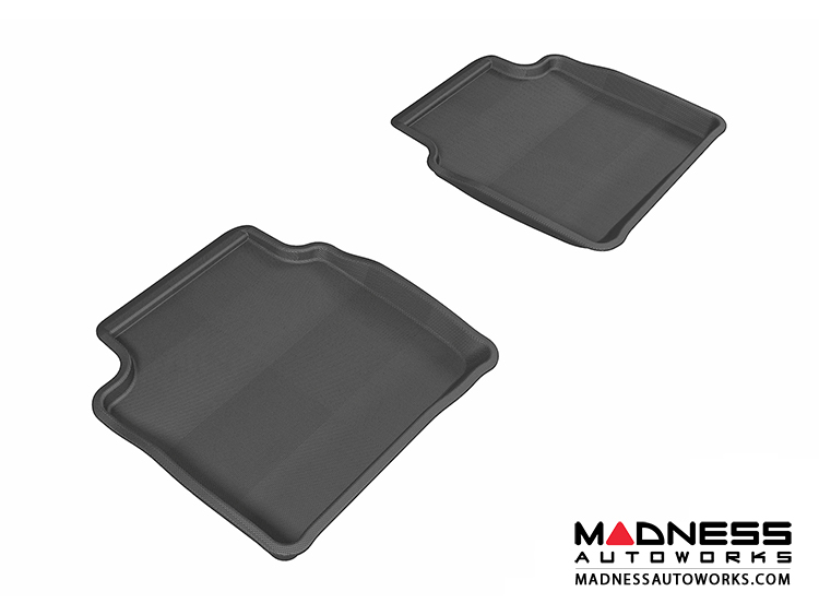 Chevrolet Malibu Floor Mats (Set of 2) - Rear - Black by 3D MAXpider (2008-2012)