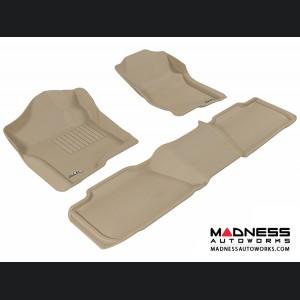 Chevrolet Tahoe Floor Mats (Set of 3) - Tan by 3D MAXpider (2007-2014)