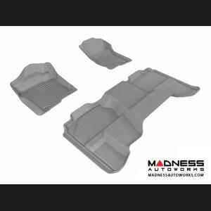 Chevrolet Silverado Extended Cab Floor Mats (Set of 3) - Gray by 3D MAXpider (2007-2013)