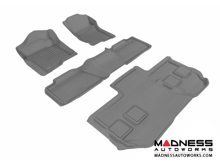 Chevrolet Suburban Floor Mats (Set of 4) - Gray by 3D MAXpider (2011-2014)