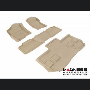 Chevrolet Suburban Floor Mats (Set of 4) - Tan by 3D MAXpider (2011-2014)
