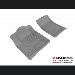 Chevrolet/ GMC Silverado/ Sierra Regular Cab Floor Mats (Set of 2) - Front - Gray by 3D MAXpider (2014-)