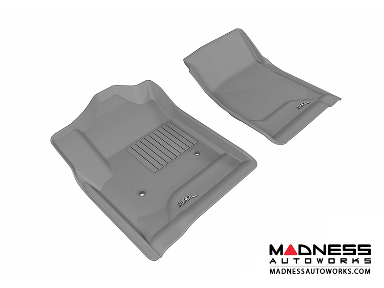 Chevrolet/ GMC Silverado/ Sierra Regular Cab Floor Mats (Set of 2) - Front - Gray by 3D MAXpider (2014-)