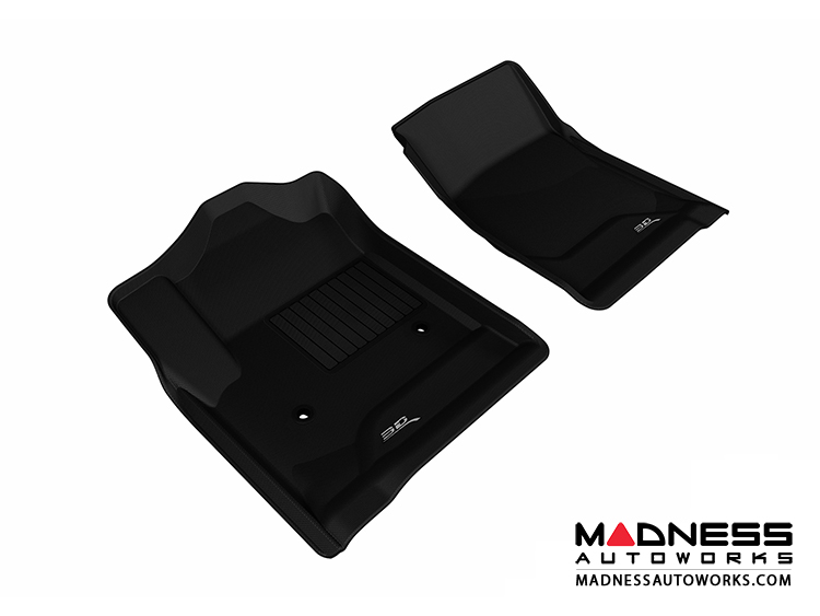 Chevrolet/ GMC Silverado/ Sierra Regular Cab Floor Mats (Set of 2) - Front - Black by 3D MAXpider (2014-)